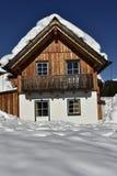 Ski Hut tradizionale in Austria fotografia stock libera da diritti