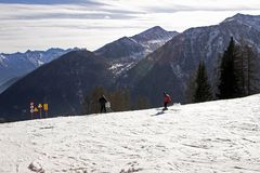 Ski im Dolomit Lizenzfreie Stockfotos