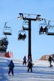 Ski incliné photographie stock