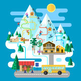 Ski infographic Royalty Free Stock Images