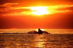 Ski Jet Croatia Sunset image libre de droits
