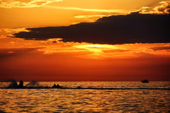 Ski Jet Croatia Sunset photos libres de droits