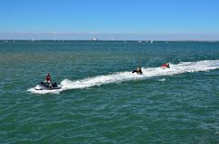Ski jets  returning to harbor in Boyardville on ile d'oleron, France Stock Image