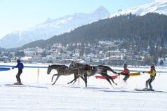 Ski Joring/chemin de Joering Images libres de droits