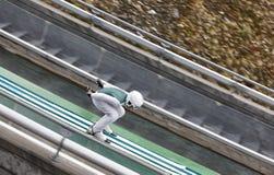 Ski jump. Artificial track. Winter sport. Norwegian summer Stock Photo