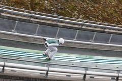 Ski jump. Artificial track. Winter sport. Norwegian summer. Stock Photos