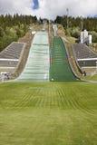 Ski jump. Artificial track. Winter sport. Norwegian summer. Stock Images