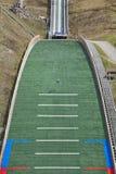 Ski jump. Artificial track. Winter sport. Norwegian summer. Stock Photo