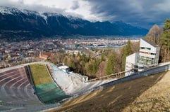 Ski-jump Bergisel. The ski-jump at Bergisel, Innsbruck Stock Photos
