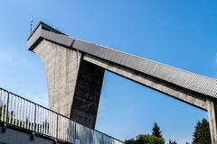 Ski jump built. In oberhof Royalty Free Stock Photo