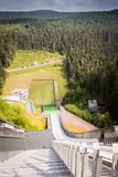 Ski jump built. In oberhof Stock Image