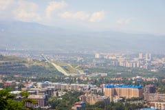 Ski jump center, Almaty, Kazakhstan Royalty Free Stock Images