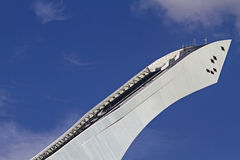 Ski jump detail in summer Stock Photo