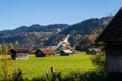 Ski Jump en Garmisch-Partenkirchen Fotos de archivo