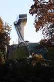 Ski jump stadium royalty free stock photo