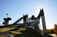 Ski Jump in Lake Placid Olympic Jumping Complex. New York State, USA Royalty Free Stock Image