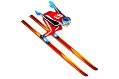 Ski Jump Long Hill Illustration Royalty Free Stock Photography