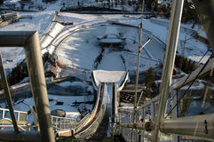 Ski Jump Slope Royalty Free Stock Images