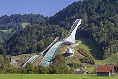 Ski jump in summer Royalty Free Stock Photography