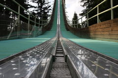 Ski jump tower Stock Images