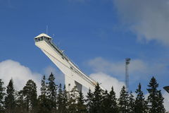 Ski Jump Tower Stock Photo