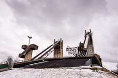 Ski Jump Towers Stock Photos