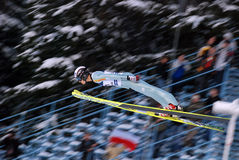 Ski Jumper. Ski Jumping World Cup in Zakopane, Poland, 27 january 2008 royalty free stock images