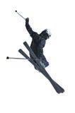 Ski jumper in black Royalty Free Stock Photos