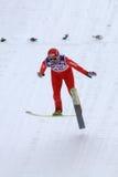 Ski jumper Michael Uhrmann lands Stock Photos