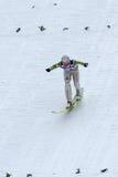 Ski jumper OKABE Takanobu lands Stock Photography