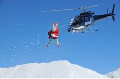 Ski jumper with snow Royalty Free Stock Photos