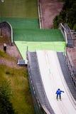 Ski Jumper at take-off Stock Image