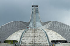 Ski jumping. In the summer in Oslo Royalty Free Stock Image