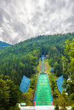 Ski jumping Stock Image