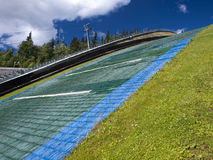 Ski jumping area Royalty Free Stock Images