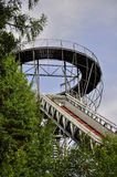 Ski jumping arena. And view tower in Lomnice nad Popelkou - Czech Republic royalty free stock image
