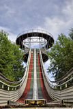 Ski jumping arena Stock Photography