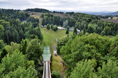Ski jumping arena Royalty Free Stock Photos