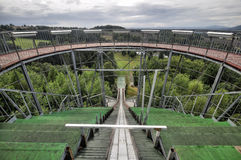 Ski jumping arena. And view tower in Lomnice nad Popelkou - Czech Republic Stock Photo