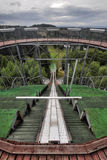 Ski jumping arena. And view tower in Lomnice nad Popelkou - Czech Republic Royalty Free Stock Photos