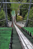 Ski jumping arena. And view tower in Lomnice nad Popelkou - Czech Republic Royalty Free Stock Photo