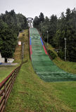 Ski jumping arena. And view tower in Lomnice nad Popelkou - Czech Republic royalty free stock photography