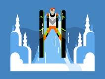 Ski jumping flat Stock Photos