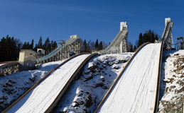 Ski jumping hill Royalty Free Stock Photos