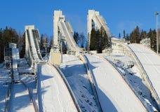 Ski jumping hill Royalty Free Stock Photo