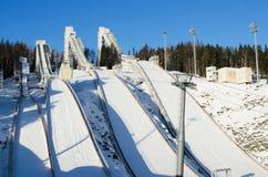 Ski jumping hill Royalty Free Stock Photography