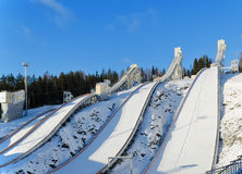 Ski jumping hill Stock Image