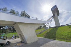 Ski Jumping Ramp Stock Image