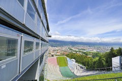 Ski Jumping Ramp Stock Photo