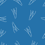 Ski jumping seamless pattern background Royalty Free Stock Photography